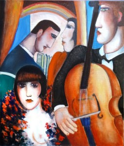 Marcel Hocq  Salle de concert cm 70 x 60